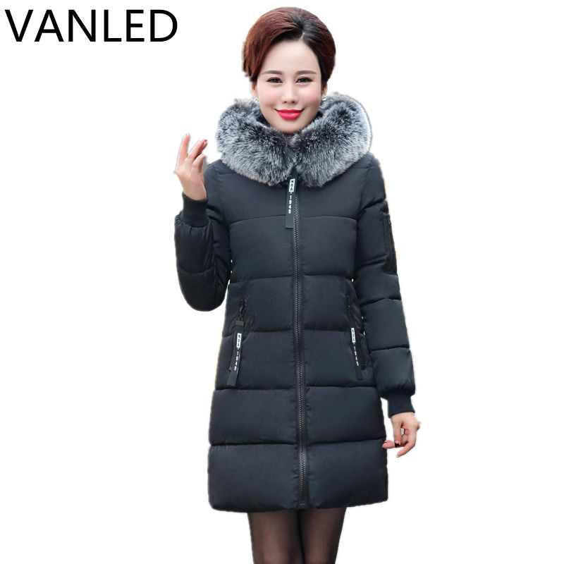 2017 Sale Womens Winter Jackets And Coats Winter Women 's Cotton Coat Large Collar Clothing In The Long Section Of Old Jacket sky blue cloud removable hat in the long section of cotton clothing 2017 winter new woman