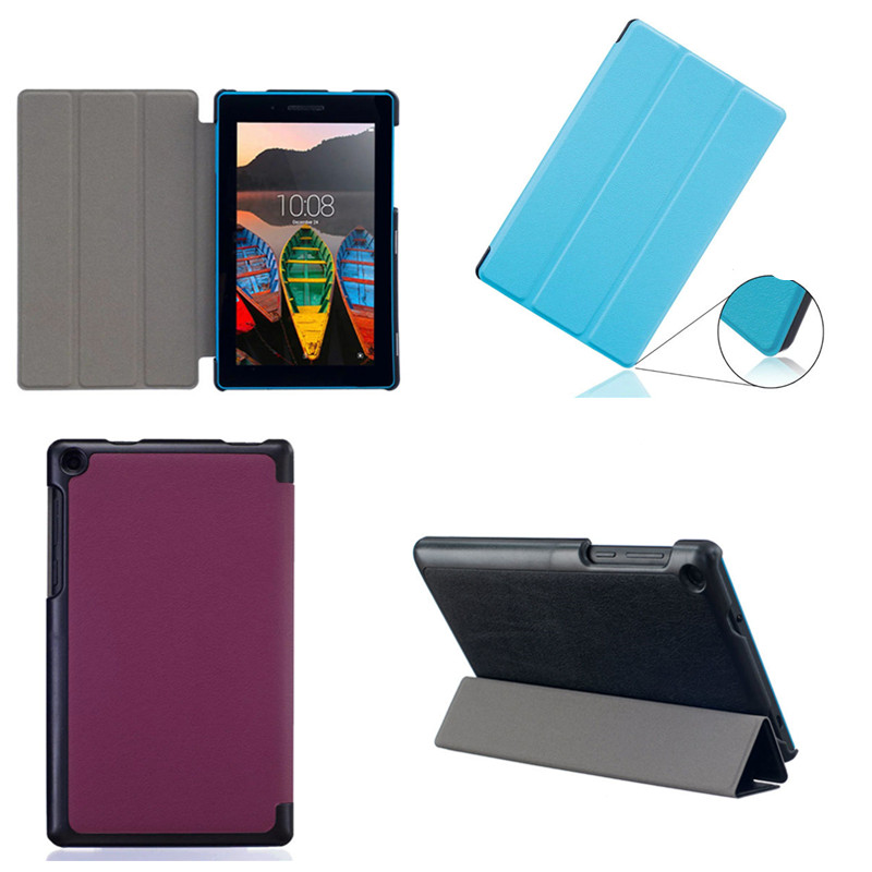 CY High Quality Karst Pu Leather+Hard shell Stand Folio Case Cover Shield Shell For Lenovo Tab3 7 TB3-730F TB3-730M 7.0 Tablet