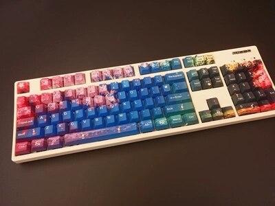1 set 60/87/104 toetsen Night Sakura PBT Dye Sublimatie Keycaps mechanische toetsenbord Sleutel caps voor MX schakelaar-in Toetsenborden van Computer & Kantoor op AliExpress - 11.11_Dubbel 11Vrijgezellendag 1