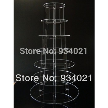 Exquisite 7 tier acrylic cake stand wedding decoration