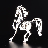 Finger Rock Assembled 3D Metal Puzzles Creative DIY Toys Animal Horses Metal Model Stainless Steel Jigsaws