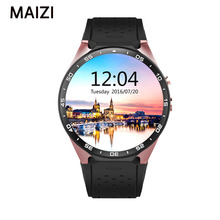 Smartwatch Smart Uhr KW88 MTK6580 1,39 zoll Android 5.1 Bluetooth 4,0 3G Pulsmesser Quad Core 512 MB RAM 4 GB ROM
