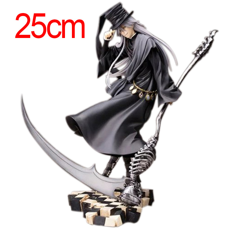 Black Butler 25cm Undertaker Action Figure Pvc Japanese Anime Figures One Piece Figure Model Collection anime one piece ainilu handsome action pvc action figure classic collection model tot doll