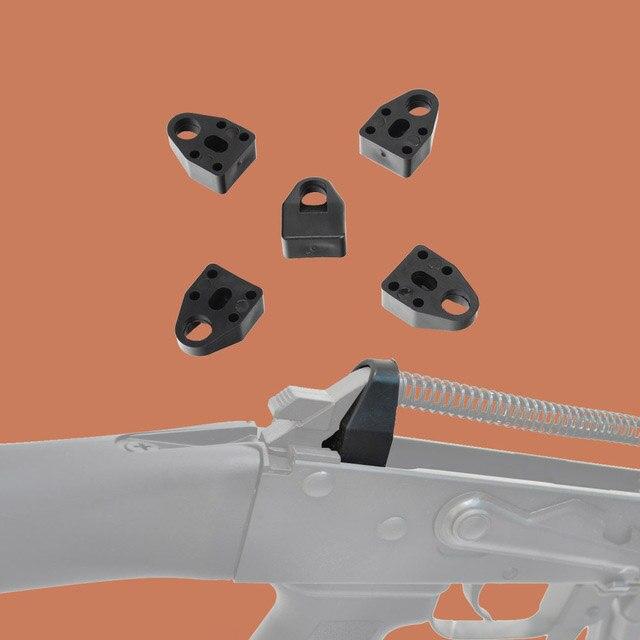 Caça recoil amortecedor 5 pçs 7.62x39 amortecedor almofada absorção de choque polímero redução se encaixa tático ak74 saiga galil valmet