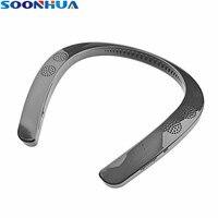 SOONHUA Wireless Bluetooth Neckband Headphone Mini Stereo Wearable Speaker Headset MP3 Music Player V5.0 Sport Running Earphone