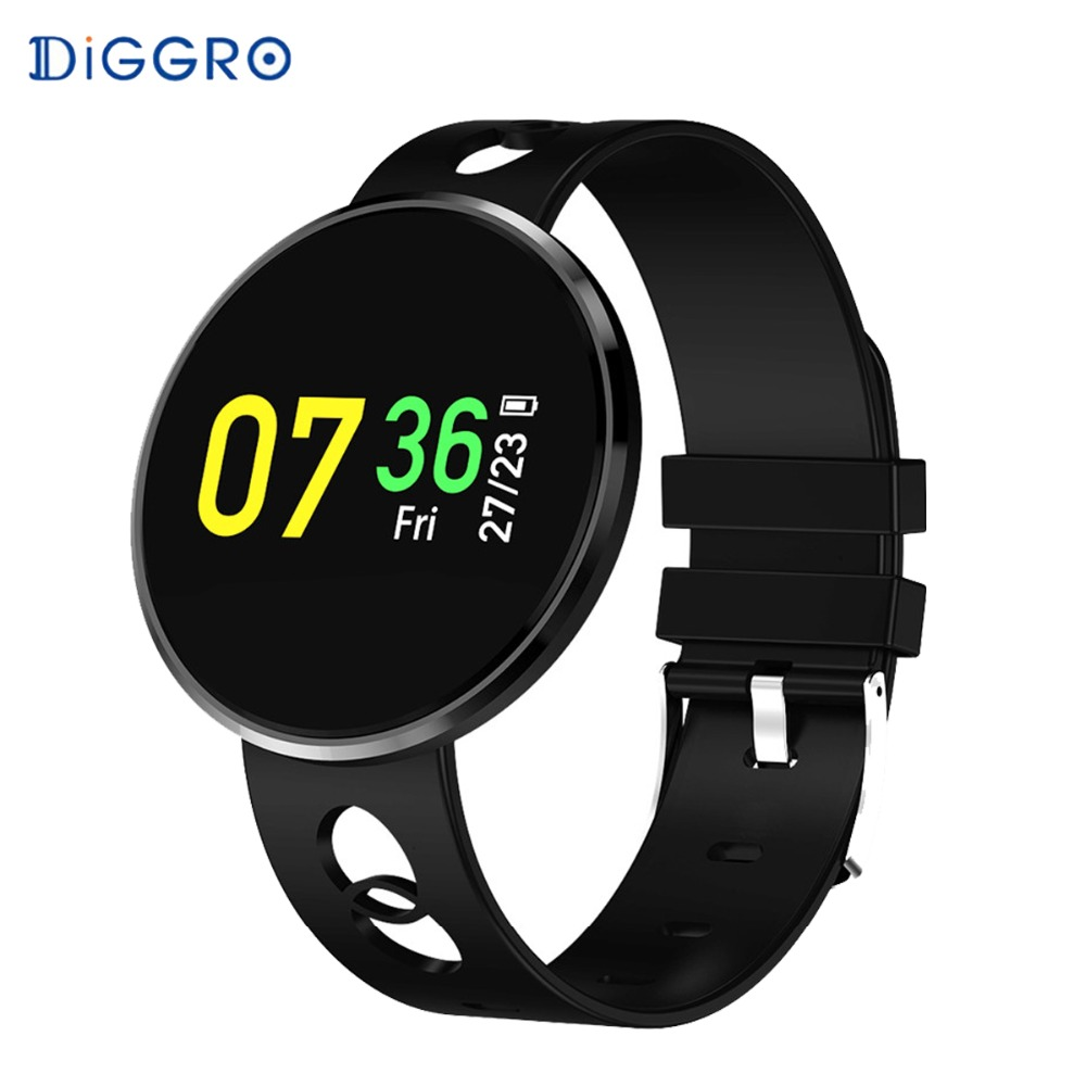 Diggro CF006 Bluetooth Smartwatch Blood Pressure Waterproof Heart Rate Monitoring Fitness Tracker Smart Bracelet for Android iOS