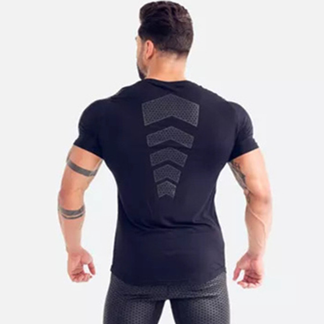 Compression Quick dry T-shirt Men Running Sport Skinny 4