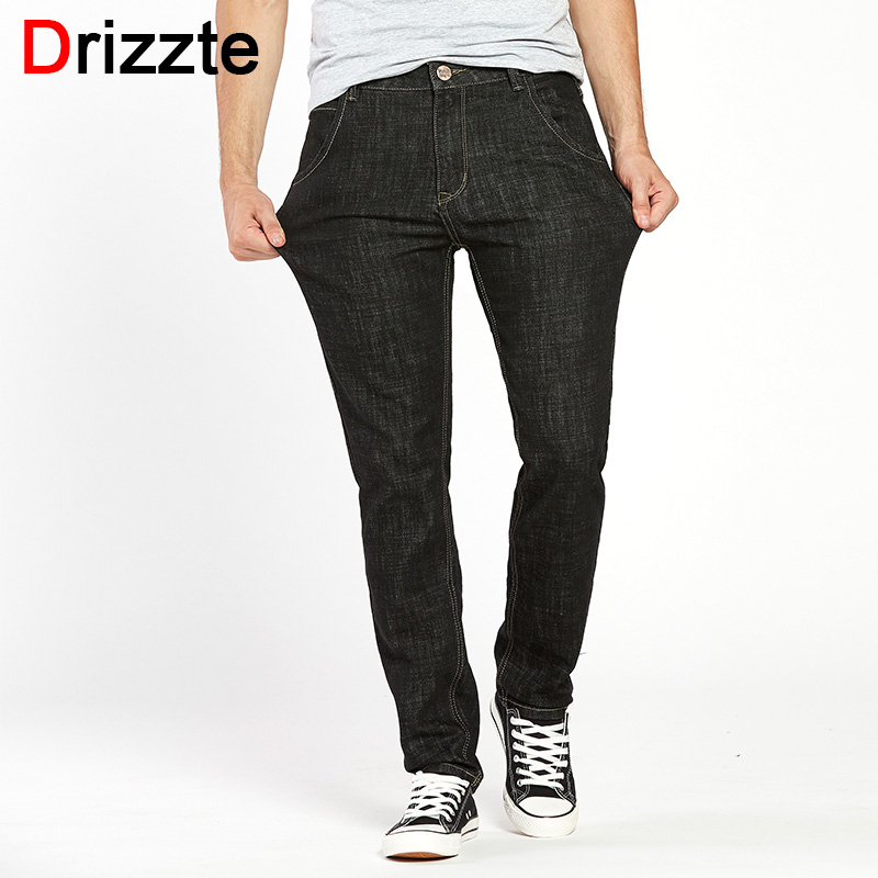 Drizzte Mens Quality Fashion Stretch Jeans 33 34 35 36 38 40 42 44 Pants Brand Trendy Stretched Men Long Trousers Pants drizzte brand men stretch denim slim jeans black blue fashion trendy trousers pants size 33 34 35 36 38 40 42 for men s jean