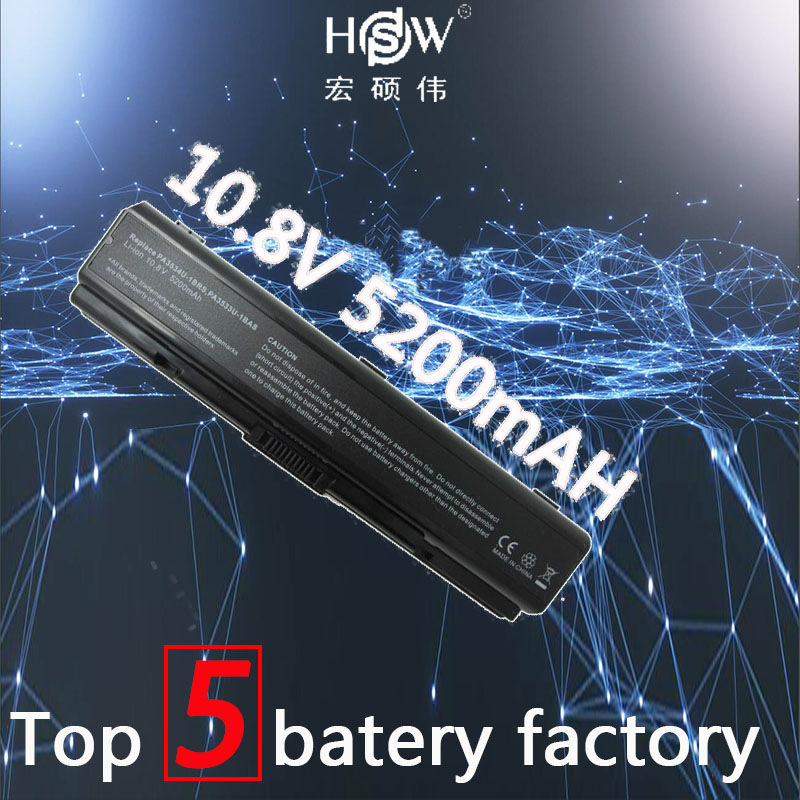 HSW laptop Battery For <font><b>Toshiba</b></font> PA3534 battery for laptop A200 A205 A210 A215 A300 L300 L450D <font><b>L500</b></font> L505 L555 M200 laptop battery image