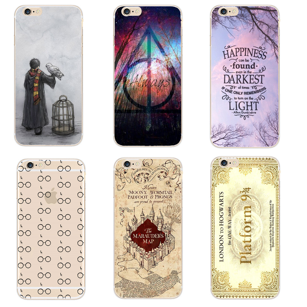 Laumans Harry Potter Case For iphone SE 5 5S 6 6S 6S 7 8 X Plus Transparent  Hard Plastic Cases Phone Back Cover Coque Capa-in Fitted Cases from  Cellphones ... b5dd8d3bb