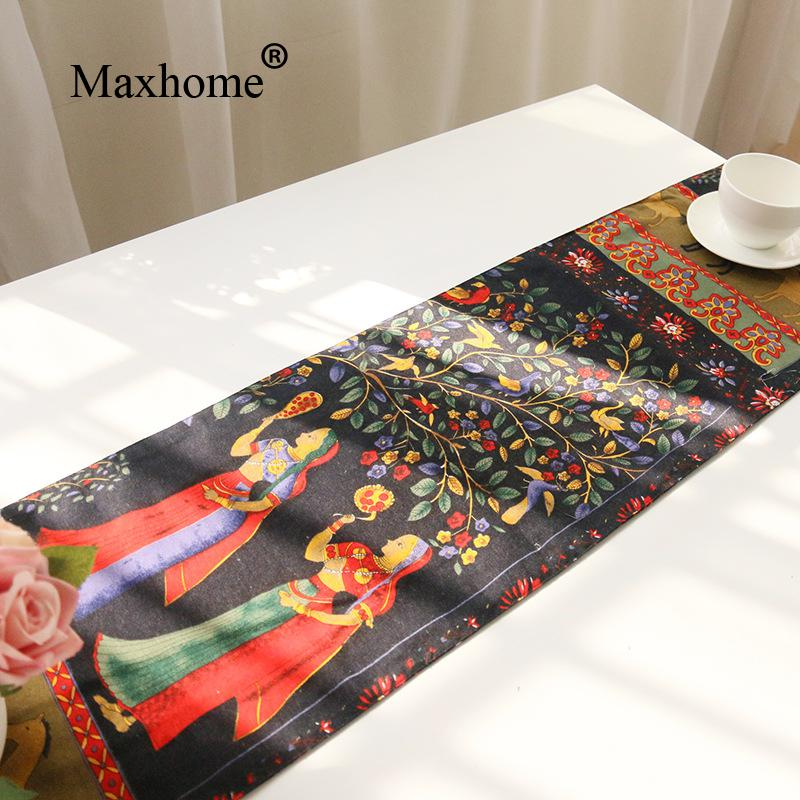 India And Pakistan Table Runner Cotton Linen Table Flag Coffee Placemats  Dining Table Decoracion Fiestas Wedding Gift In Table Runners From Home U0026  Garden On ...