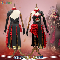 New Game SINoALICE Cosplay Costumes Cinderella Sexy Gothic Party Dress Full Set For Women Prop Clothing Free Shipping