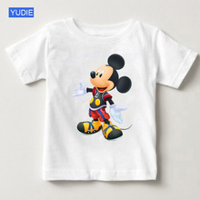 2019 Children Cartoon Mickey T Shirts Mouse Short Sleeve T-shirt Donald Baby / Boy / Girl T Shirt Summer O-Neck Shirt YUDIE donald weis t t solo rules