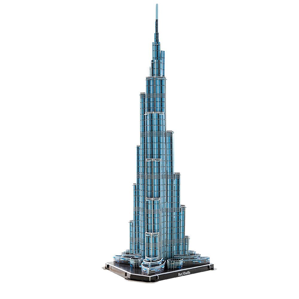Феди best продажи 3D головоломки башни Бурдж-Халифа 64 шт. игрушки Новый