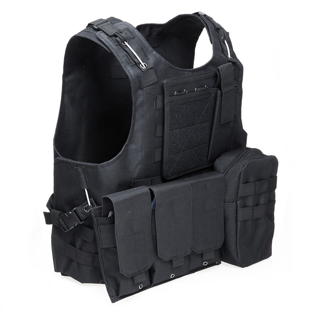 Tactical Military Swat Field Battle Airsoft <font><b>Molle</b></font> Combat Assault Plate Carrier Vest Hunting Chaleco <font><b>Tactico</b></font> Militar Army Vest image
