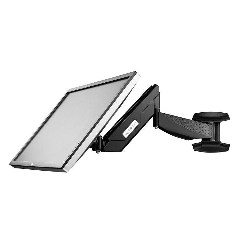 Super qualité Rotation complète 13-27 pouces LCD LED ordinateur moniteur support TV montage mural gaz ressort bras support VESA 75/100