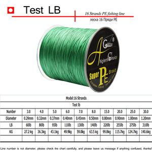 Image 2 - 1500M Japan Super Strong Braided Fishing Wire 16 Strands 60LB 310LB Multifilament PE Fishing Line for Carp Fishing