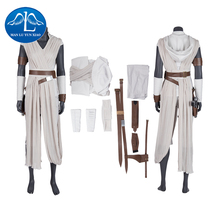 Rey Costume Star Wars 9 The Rise of Skywalker Cosplay  Halloween Adult Superhero Jedi Outfit Boots Women Pants