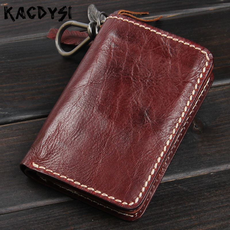 100 Genuine Leather Short Men s Wallets Retro Purse Vertical Famous Brand Wallet Leather Male ID