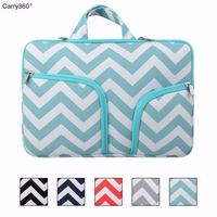 Carry360 Canvas Striped Wave Case For Macbook Air 13 Laptop Bag Sleeve For Apple Macbook Retina
