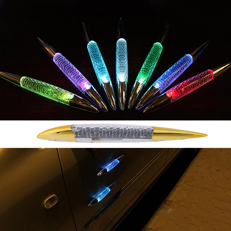Car-styling LED Strobe Lights Shark Gill Fin Solar Powered Colorful Light Automobiles Light-emitting Diode Decorative Flash Lamp цена и фото