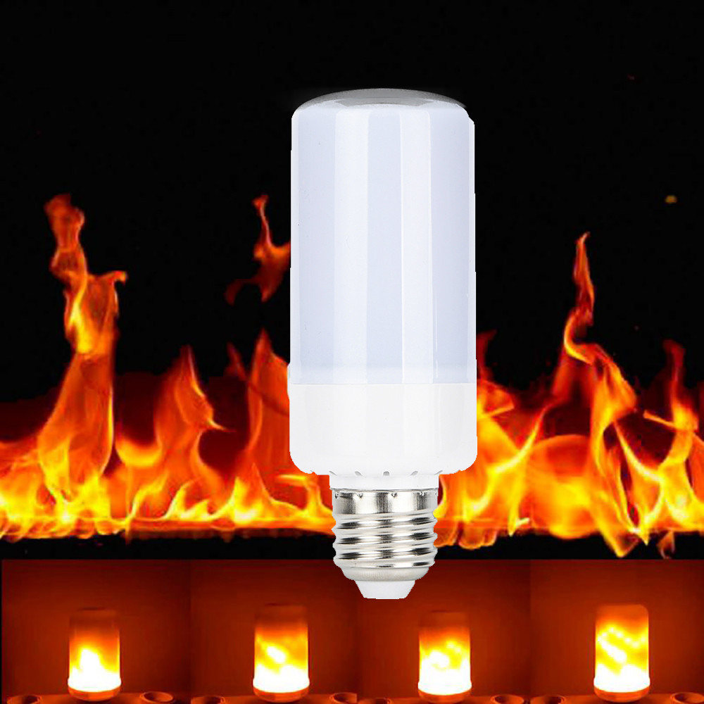 Good Quality Retro LED Filament Light lamp 5W 360 Flame Flickering Effect Fire Light Bulb Decorative Holiday Drop Shipping