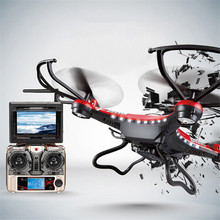 JJRC H8D 2.4Ghz 5.8G FPV RC Quadcopter Drone with 2MP Camera FPV Monitor Display RTF RC helicopter Headless Mode One Key Return