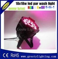Luz par interior 18 pcs 18 w led par luz  rgbwa + uv 6in1 led par  18 w led par can luz para capina luz do estágio