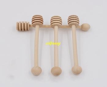 300 sztuk partia szybka wysyłka drewniane mieszadła czerpak do miodu drewna miodu łyżka kij dla słoik na miód trzymać zbierać dozowania miód narzędzie tanie i dobre opinie colFnnny Honey Spoons Show as below
