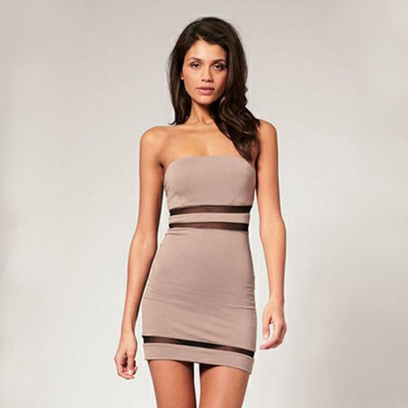 032dda966a7 FEIBUSHI Summer Lace Sexy Strapless Dress Women 2017 Off the ...