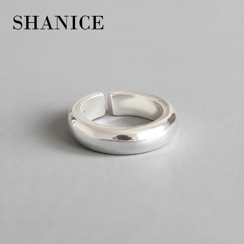 SHANICE New Fashion Jewelry Silver 990 Classic Simple Wedding Ring 925 Sterling Silver Rings bague femmeSHANICE New Fashion Jewelry Silver 990 Classic Simple Wedding Ring 925 Sterling Silver Rings bague femme