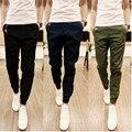 Nuevo diseño 2017 de La Moda de Los Hombres Pantalones Casuales de Algodón Hombres basculador pantalones Ocio Pantalones Pantalones de los hombres tamaño S-3XL