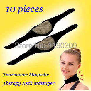Tourmaline self-heating magnetic therapy neck massager belt Cervical Vertebra Protection Spontaneous Heating Belt 10pcs/lot