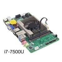 Intel Core i7 7500U Встроенная Материнская плата 8xusb HDMI VGA LVDS COM WiFi BT Gigabit LAN промышленного ноутбука все в одном материнская плата для ПК