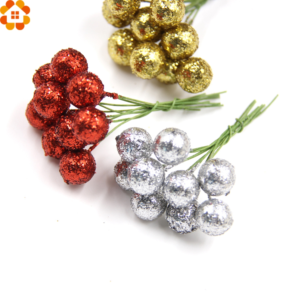 DIY Flowers Stamens Party-Decoration Wedding/christams Glitter Artificial-Berries 100PCS