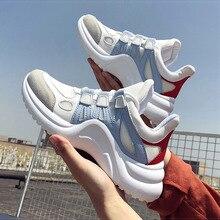 011613949 Mulheres Sapatos Robusto Branco Sapatilhas 2019 Primavera Mulheres Calçados  vulcanizados Moda Cestas de Formadores Sneakers Mulheres
