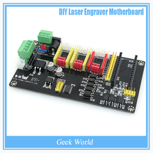 Engraving Electronic Control Panel Three Axis Stepper Motor Drive Controller Motherboard For Laser Engrave Machine