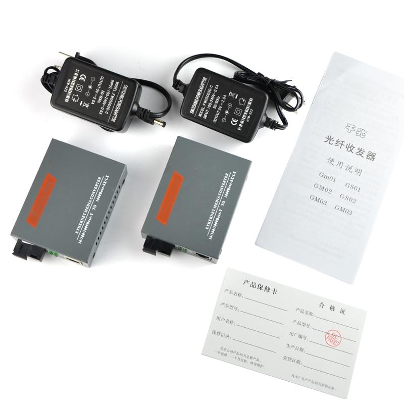 NetLINK – convertisseur de média en fibre monomode WDM, A 1310nm B 1550nm, côté A ou B, 25KM, 10/100M