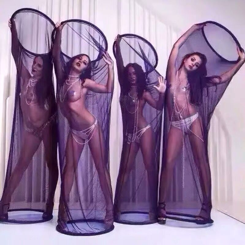 4pcs-Lot-nightclub-dress-girls-mesh-cage-cover-stage-prop-for-stage-performance-show-stage-prop