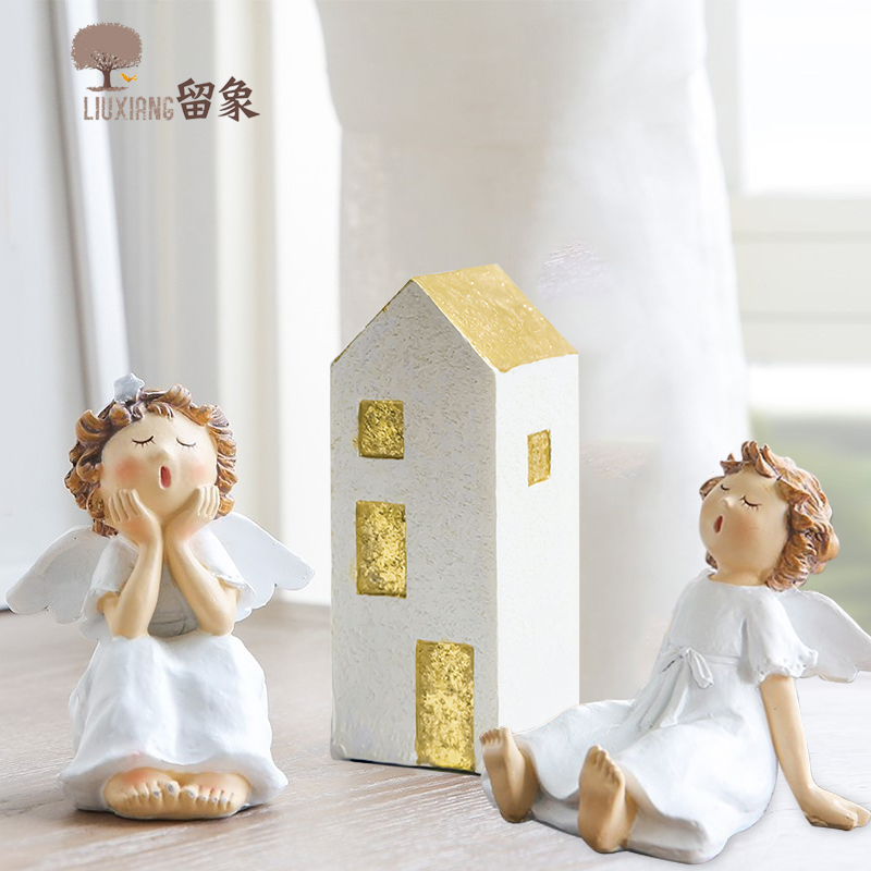 Residence Ornament Equipment Angel Ornament Lx Resin Fairy Collectible figurines Home Decoration Residence Decation For Christmas Dwelling Room