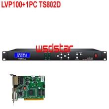 VDWALL LVP100 + 1 ชิ้น TS802D โปรเซสเซอร์ LED อินพุต CVBS/DVI/HDMI/VGA 1920*1200 LED เช่าวิดีโอโปรเซสเซอร์ใหม่ขายร้อน