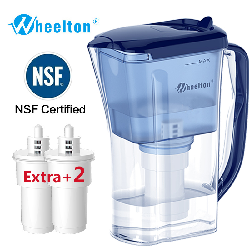 Wheelton Water filter purifier pitcher Remove lime-scale BPA free Household and Picnic Attach extra 2 cartridge Free Shipping ручной пылесос handstick dyson v6 cord free extra sv03 350вт желтый