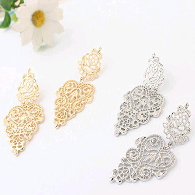 Long Bohemian Golden Earrings