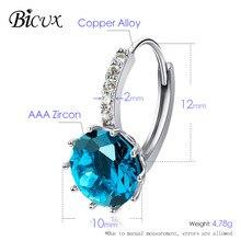 Fashion Cute Geometric Cubic Zircon Stud Earrings (10 Color)