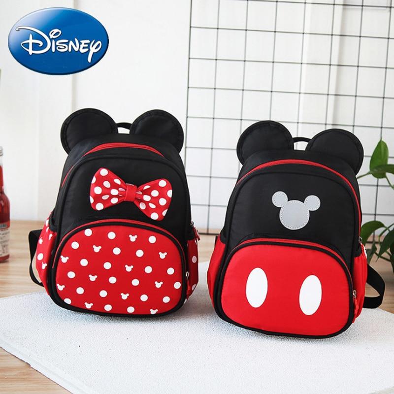 Disney Kids Girls Boy Mickey Mouse Backpacks School-Bag 2019 New Cute Children Backpack Polyester Kindergarten Cartoon Bags Gift