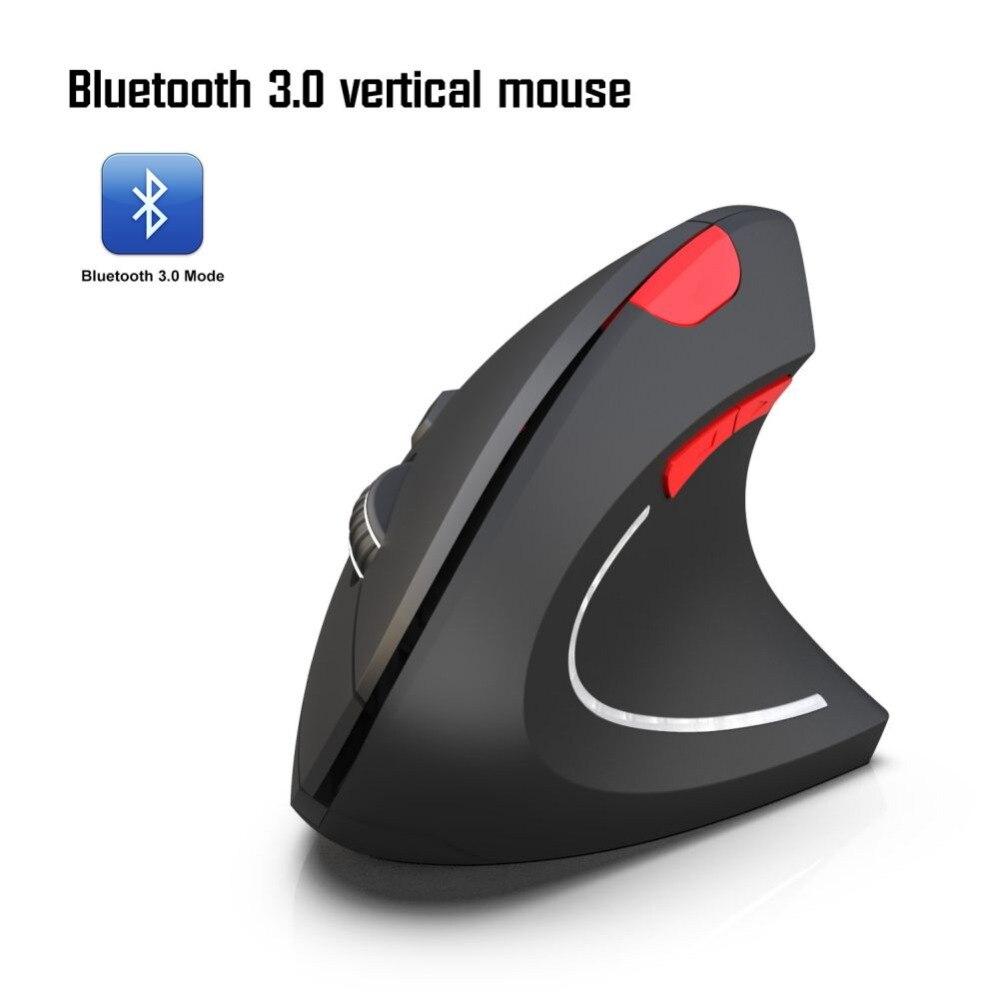 Souris sans fil nouvellement Portable pour Bluetooth 3.0, souris pour ordinateur de bureau à piles verticales