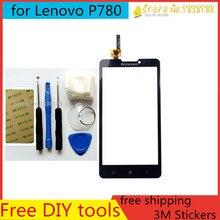 Бесплатные Инструменты для ПОДЕЛОК + Оригинальный Новый Сенсорный Экран для Lenovo P780 Стекло Емкостный датчик для Lenovo P780 С Сенсорным Экраном панели Черный