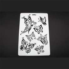 CUTIEPIE Butterflies Layering Stencils For Walls Painting Scrapbooking Stamp Album DIY Crafts Decorative Embossing Paper Cards