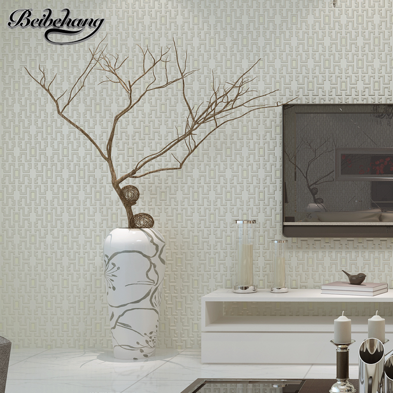 beibehang Modern simple solid color box non - woven wallpaper color bedroom living room stereo TV wall wallpaper papel de parede bering ber 10729 742 bering