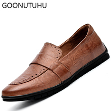 2019 new fashion men's shoes casual genuine leather cow loafers male brown khaki black shoe man nice flats slip on shoes for men grimentin fashion uk designer men loafers genuine leather black brown luxury casual slip on male shoes men flats business 745